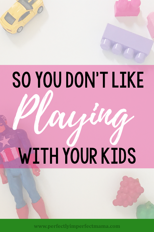 Do you have a hard time sitting down and playing with your kids? You're not alone. Here are some tips to get you to stop feeling guilty and start spending quality time with the ones you love most. And a FREE printable with 50 fun play ideas!