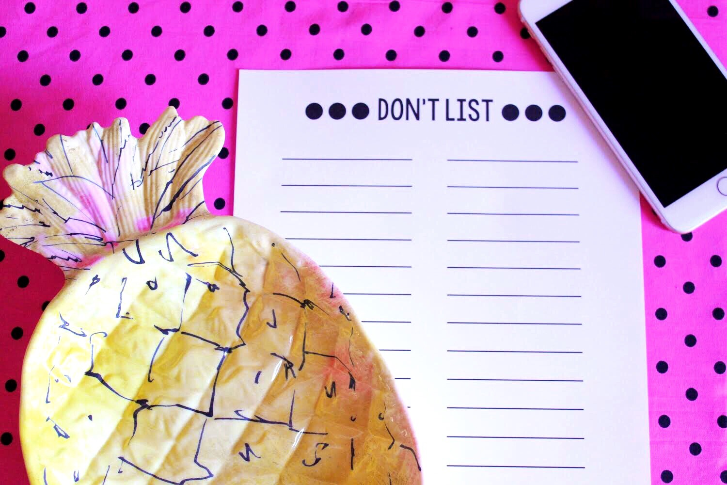 What a Don't List is and Why You Need One--Plus FREE printable!