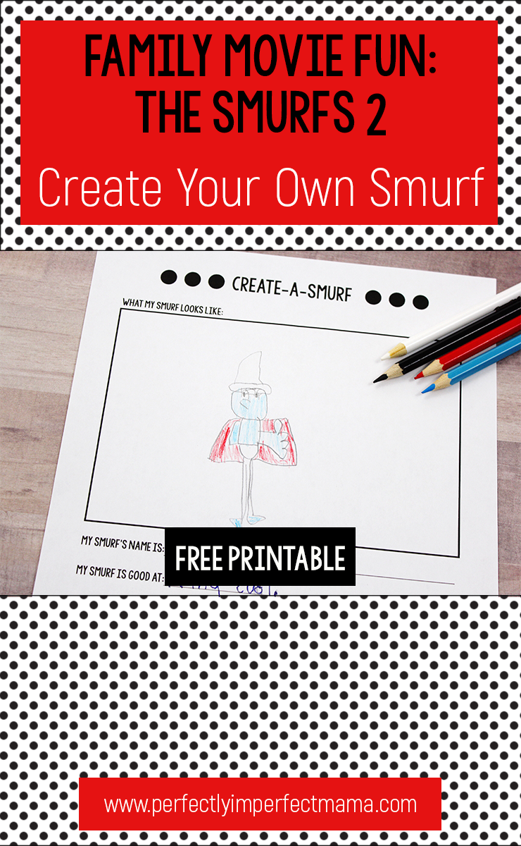 smurfs 2: create your own smurf (plus free printable) - perfectly